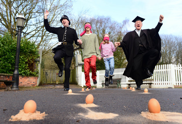 Blists-Hill-Victorian-Town-egg-dancing-whilst-blind-folded
